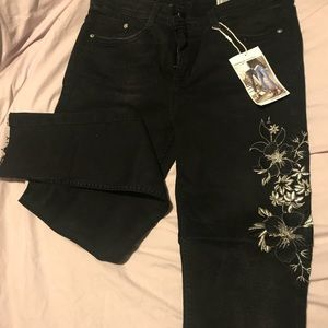 Zara Jeans Embroired